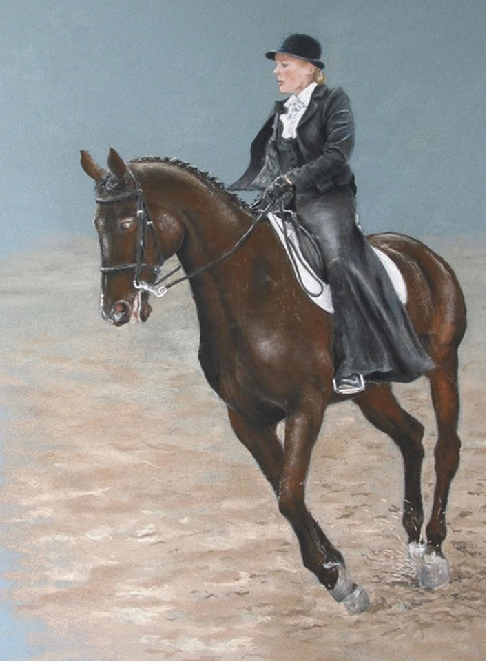 Argentinian Thoroughbred Cross Horse | Pastel Painting